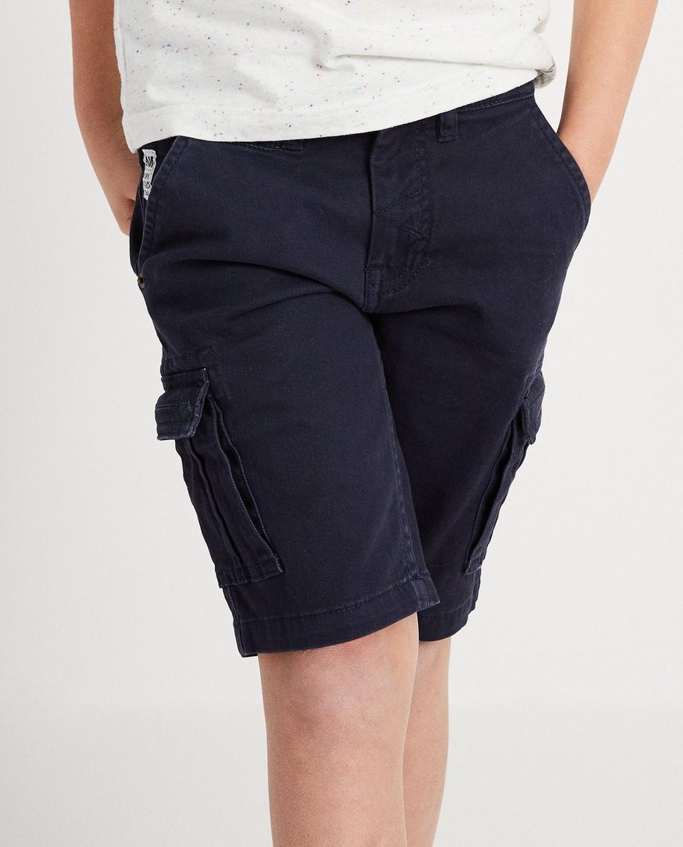 Shorts - Navy - Cargoshorts aus Biobaumwolle